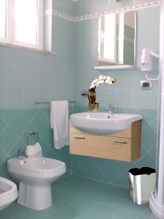 Idria Hotel: BATHROOM (with shower)