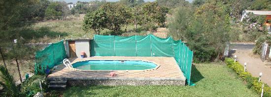 Ghanvatkar Bunglow at Zirad: The small swimming pool