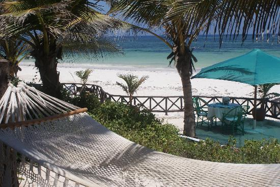 Diani Blue: Lunch table, hamac and sea view