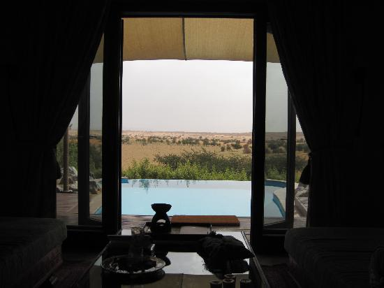 Al Maha, A Luxury Collection Desert Resort & Spa: view from the bed