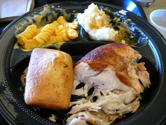 Dinner Plate At Boston Market