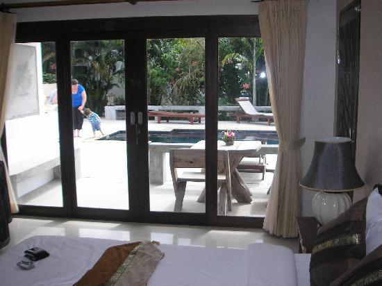 Florist Resort : From inside our room. (standard room)