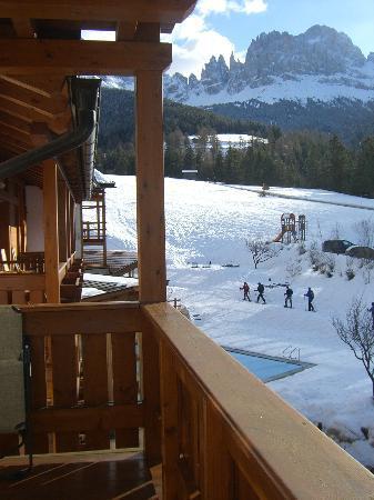 Cyprianerhof Dolomit Resort: i ciaspolatori dalla camera