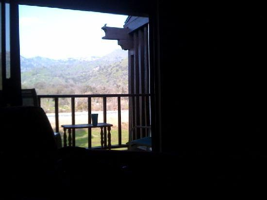 Western Holiday Lodge Three Rivers: view from my bed in the morning! Western Holiday Lodge, Three Rivers, CA