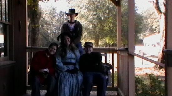 The Smoakhouse Ranch: My 3 sons and I on front porch swing