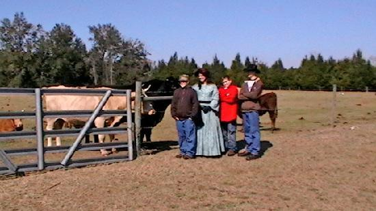 The Smoakhouse Ranch: visiting the cows and donkeys before we leave