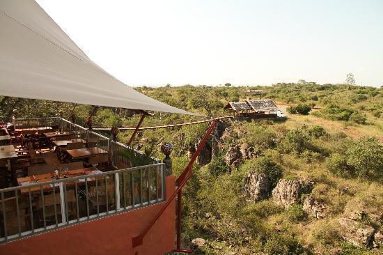 Leopard Cliff Mansion: Ausblick in die Murmeltierschlucht