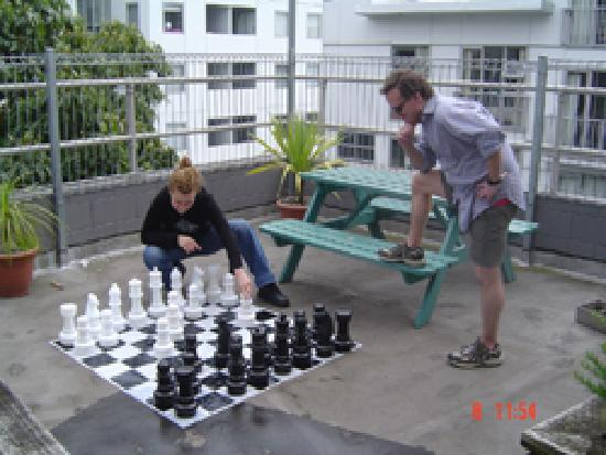 YHA Auckland City: Chess board