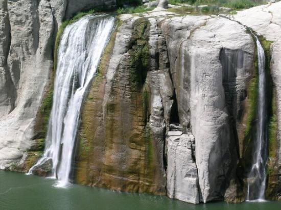 Twin Falls, ID: Shoshone Falls - Closer view using my Pentax PF-80ED telescopic lens - Kimberly, ID