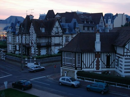 Cabourg, France: View from the window at 10pm