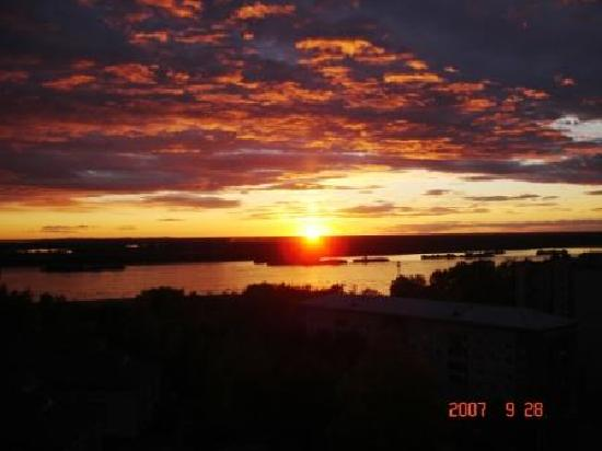 Khabarovsk, Ρωσία: sunset Amur river