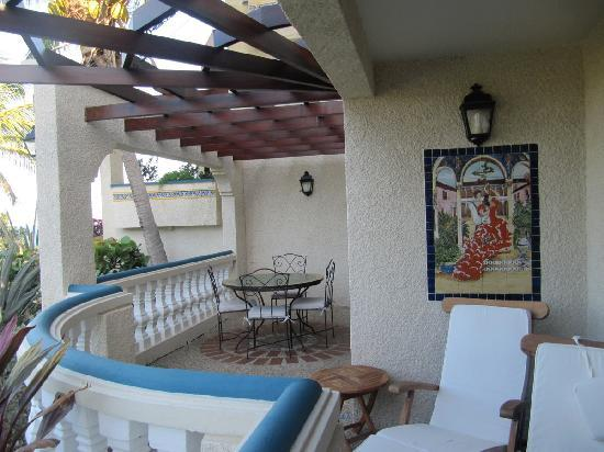 Hotel L'Esplanade: Balcony of the one-bedroom suite