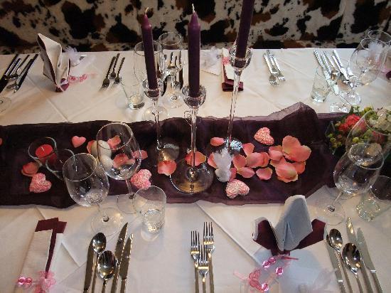 Bonderosa Steakhouse: Tischdeko in der Bonderosa