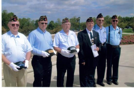 National D-Day Memorial: Me and other members of Post #54 for Memorial Day Tribute at the D-Day Memorial.