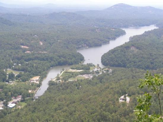 A beautiful view of Lake Lure, NC