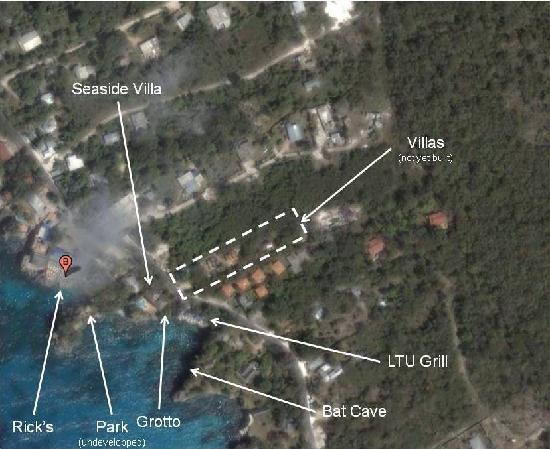 Villas Sur Mer: Sattelite view of site