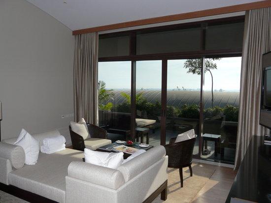 Capella Singapore : living room in villa