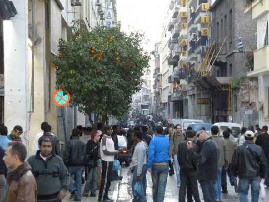 Soho Hotel: die menandrou-straße von dem hotel