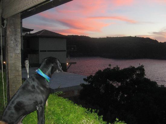 Cachoeira Inn: sunset with Barone