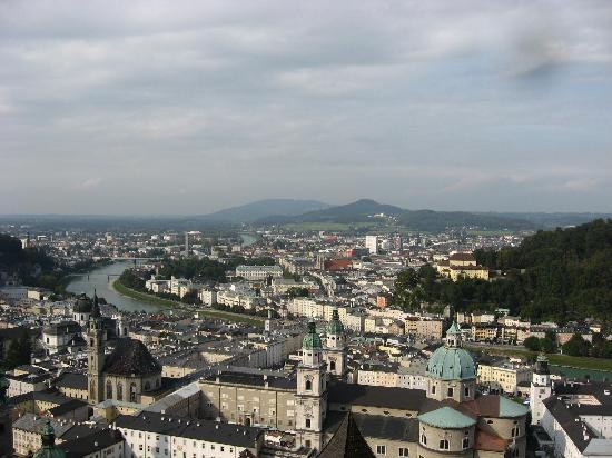Pension Quellenhof: View of Salzburg from the famous Hohensalzburg Fortress