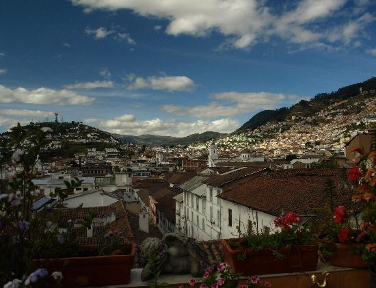 Villa Colonna Quito: View from terrrace