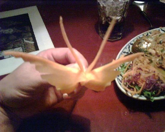 Thai Garden Cute Erfly Garnish Carrot