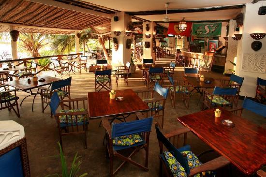 Zanzibar Sports Cafe Bar Dining Area
