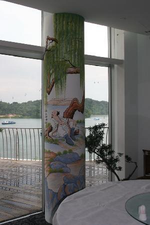 Imperial Restaurant: Looking across to Sentosa Island