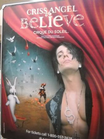 Criss Angel Believe : Criss Angel's show was pretty good but is better on TV!!!