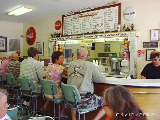 Thornton's original soda fountain and ice cream shop in Florence, AL since 1912. Nothing has bee