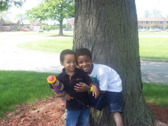 Riverdale, IL: That is sarjay and lil meche they are gettin bigger, so you better watch out world. They are goi
