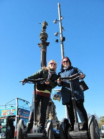 Barcelona Segway Glides: My sister and I on the segways