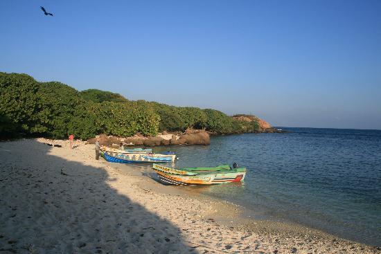 Trincomalee, Sri Lanka: Pigeon Island : la plage d'arrivée des bateaux et spot 2