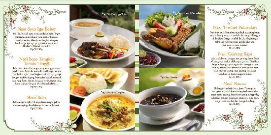 Cafe Omah Sendok: Our special menu