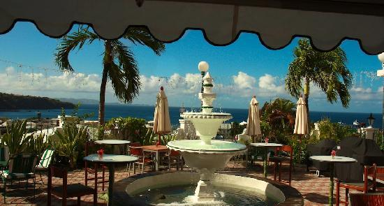 Grenadine House patio for lounging & dining & enjoying the gorgeous view