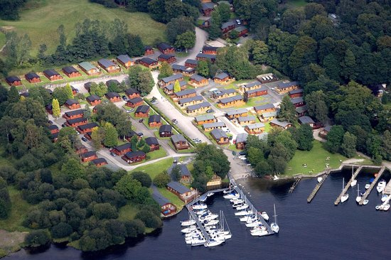 White Cross Bay Holiday Park: Aerial View