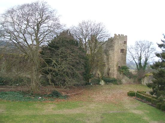 Ludlow Castle: View from sitting room