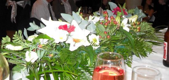 Tullyglass House Hotel: top table centre piece