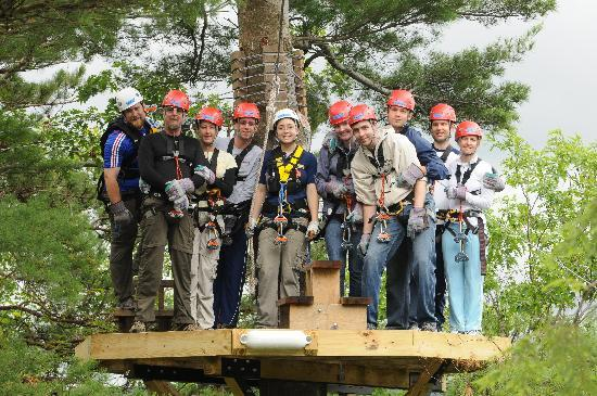 Zoar Outdoor/Deerfield Valley Canopy Tours: group pic