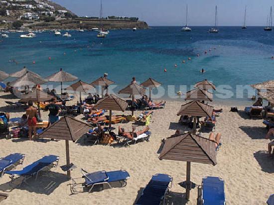 Ornos, Greece: beach