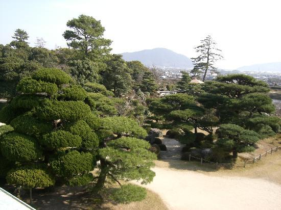 Hofu, Japan: 毛利庭園内にて(冬)