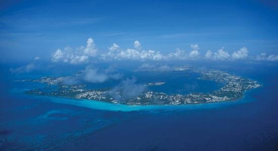 Hamilton, Bermuda: Aerial view of Bermuda