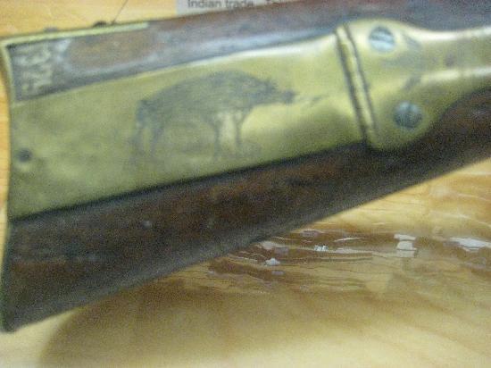 Rock Island Arsenal Museum: Native American Engraving Detail