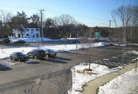 Hampton Inn - Groton: view from hotel room front facing