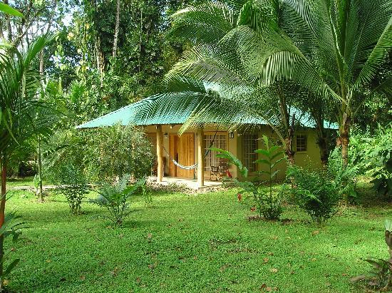 El Nido Cabinas: Our cabin from the gardens