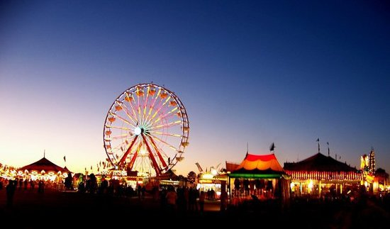 In Lafayette, Louisanna, the 4 day celebration includes a huge carnival.  Rides that we saw for
