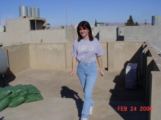 Erbil, Irak: Roof of our Villa in Iraq 2006