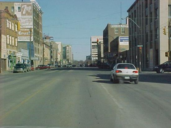 Rush hour in Saskatoon, Saskachewan.