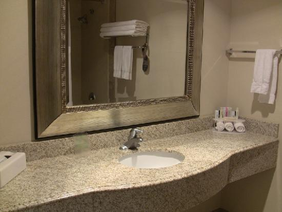 Socorro, NM: Sink & mirror in the bathroom