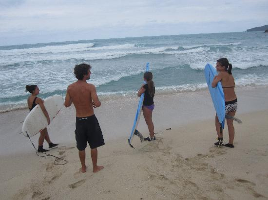 Guava Road Apartments: Tortola is a surfer's haven no doubt. We just had to give our girls lessons! So fun